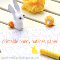 free bunny shades paper