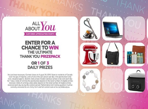 The Shopping Channel All About You Contest