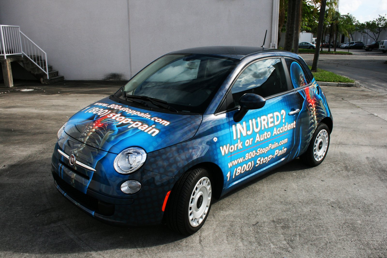 Palm Beach Gardens Fiat 500 Car Wrap for Palm Beach Back