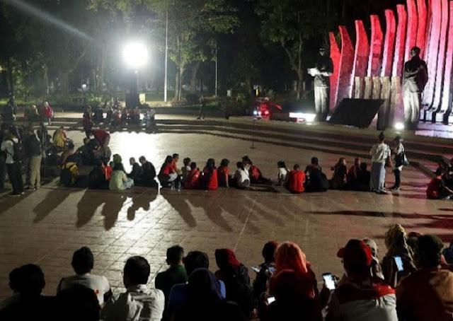 Kiai Ma'ruf Amin Jadi Cawapres, Relawan Projo Bubarkan Diri dari Tugu Proklamasi