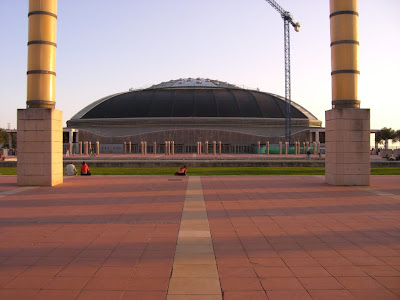 Palau Sant Jordi in the Olympic Ring of Barcelona