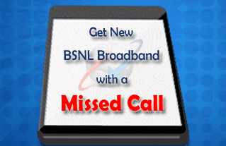 Book BSNL Broadband with Missed Call