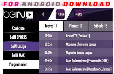 Download Android BeinConnect Apk - Watch Live Bein Sport on Android