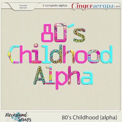 http://store.gingerscraps.net/80-s-Childhood-alpha.html