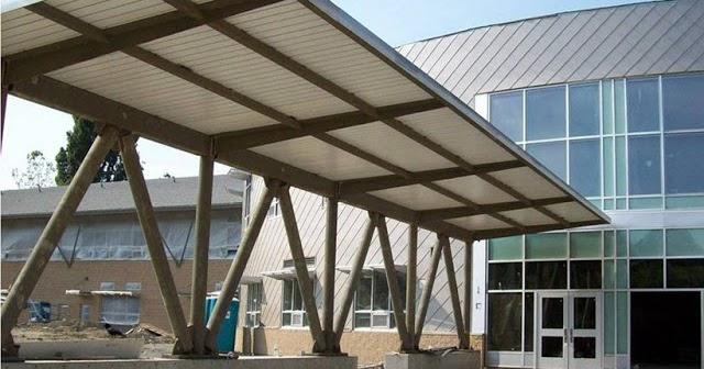jenis baja ringan model kanopi rumah minimalis terbuat dari besi pipa galvanis
