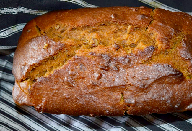 Homemade Pumpkin Bread Made with Coconut Milk (via Bubby and Bean)