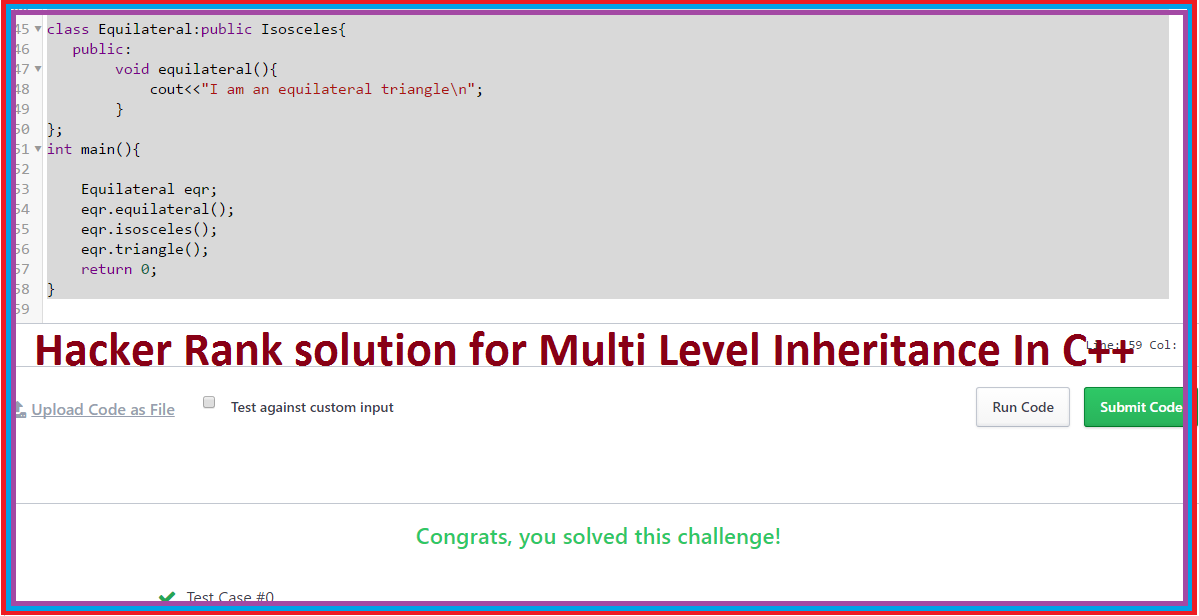 Multi Level Inheritance Hacker Rank Solution