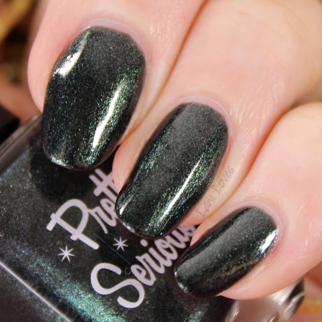 Pretty Serious Enchanting Evergreen nail polish swatches & review