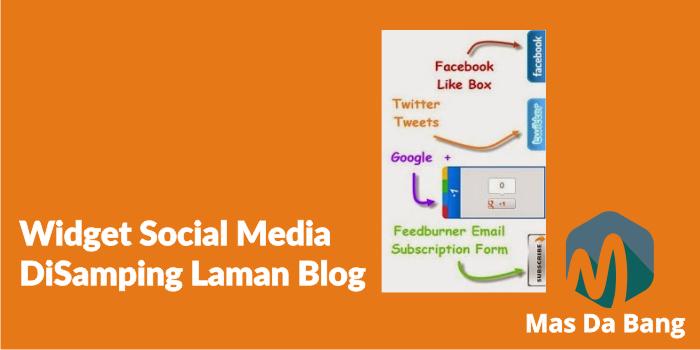 Widget Social Media diSamping Laman Blog