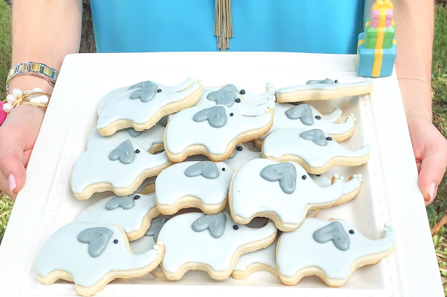 The Bright Glittery Side Baby Elephant Sugar Cookies
