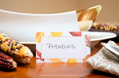 Thanksgiving Dinner Invitations and Place Cards Set by Sweet Little Ones Shop on Etsy