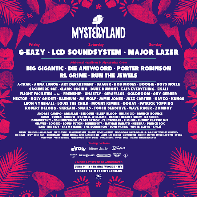 @MysterylandUSA 2017 Unveils Genre-Bending Lineup featuring headliners G-Eazy, LCD Soundsystem, Major Lazer + many others!