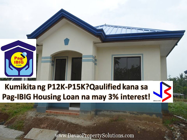 If owning a house is one of your ultimate dream for your family, this is not impossible now even if you are working and earning a minimum salary.  This is because the Pag-IBIG is offering lowest-ever three 3% housing interest rate to minimum-wage earners.  According to Cabinet Secretary and Pag-IBIG Chairman Leoncio B. Evasco, Jr., Pag-IBIG Fund Board of Trustees is happy to announce that the proposal for lowering the interest rate under Pag-IBIG's affordable housing is already approved.