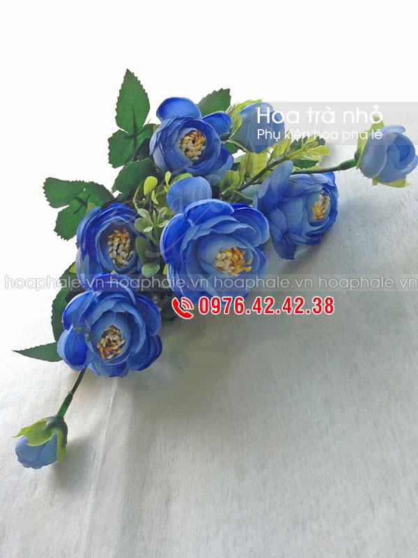 Phụ kiện trang trí hoa pha lê | Cụm hoa trà