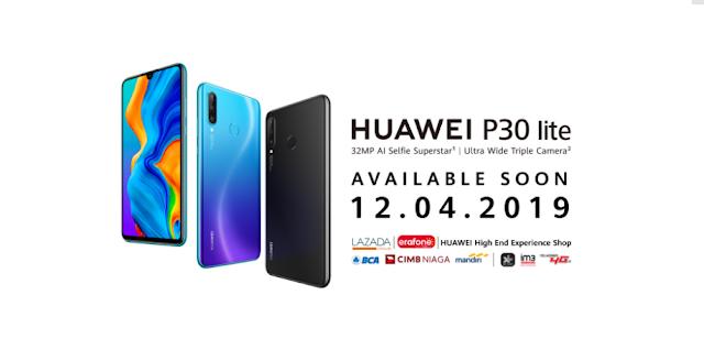 Huawei P30 Lite baru Akan Diluncurkan 12 April
