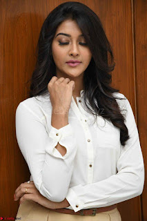 Pooja Jhaveri in White Shirt and Brown Trousers Spicy Pics 04.jpg
