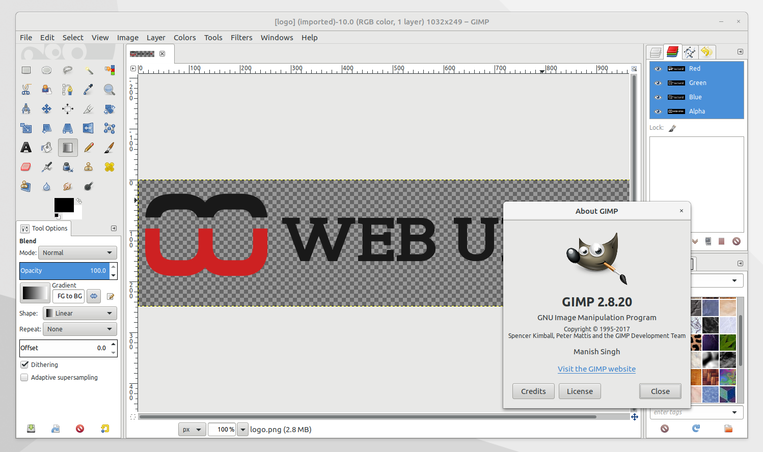 Install GIMP 2 8 20 In Ubuntu Or Linux Mint Via PPA ~ Web