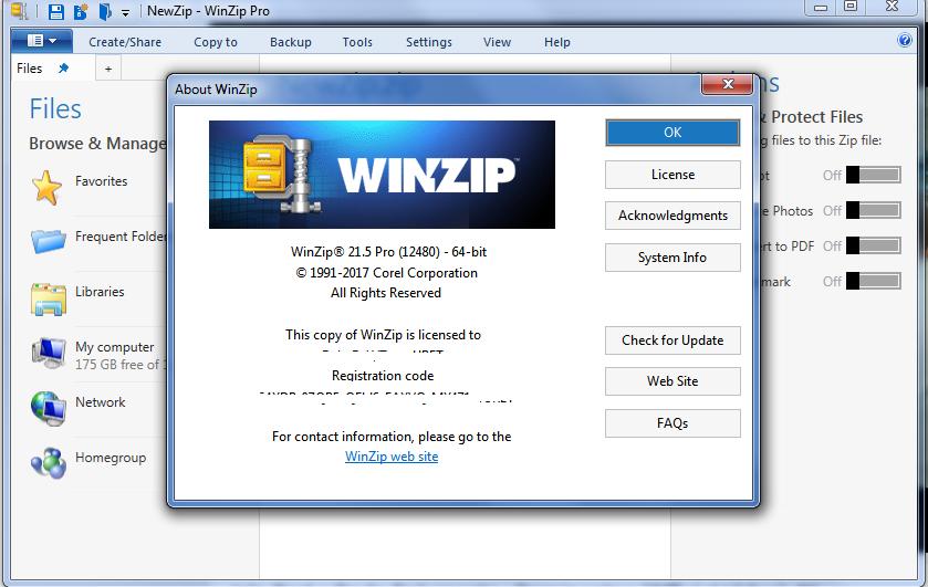 activation code for winzip 21
