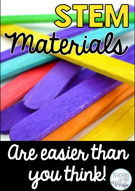 STEM Challenges for Elementary Kids! THe materials to gather are so much easier than you think! Check this blog post for ideas and links to even more!