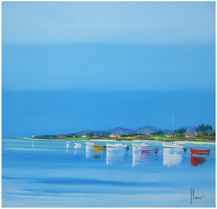 Córsega - Frédéric Flanet e suas belas pinturas com paisagem de praias