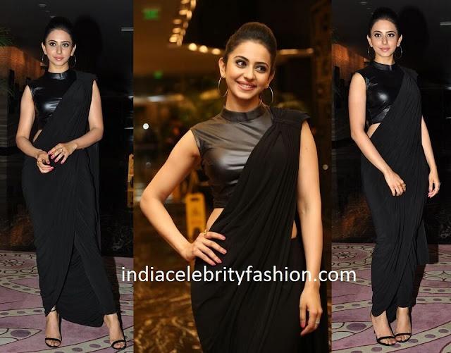 Rakul Preet in Indo Western Fusion Sari
