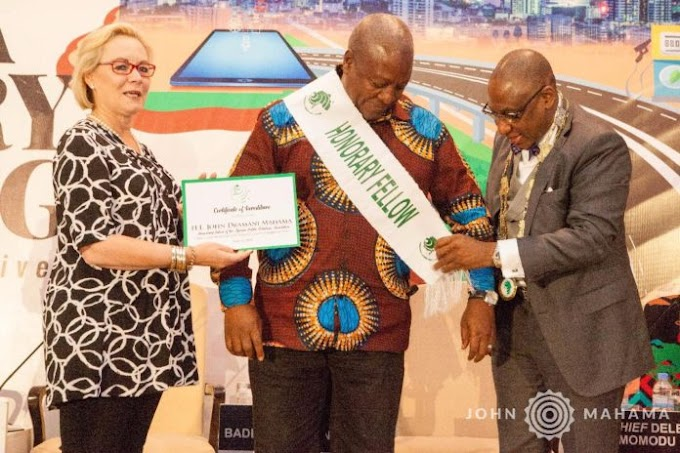 APRA inducts Mahama as an Honorary Fellow