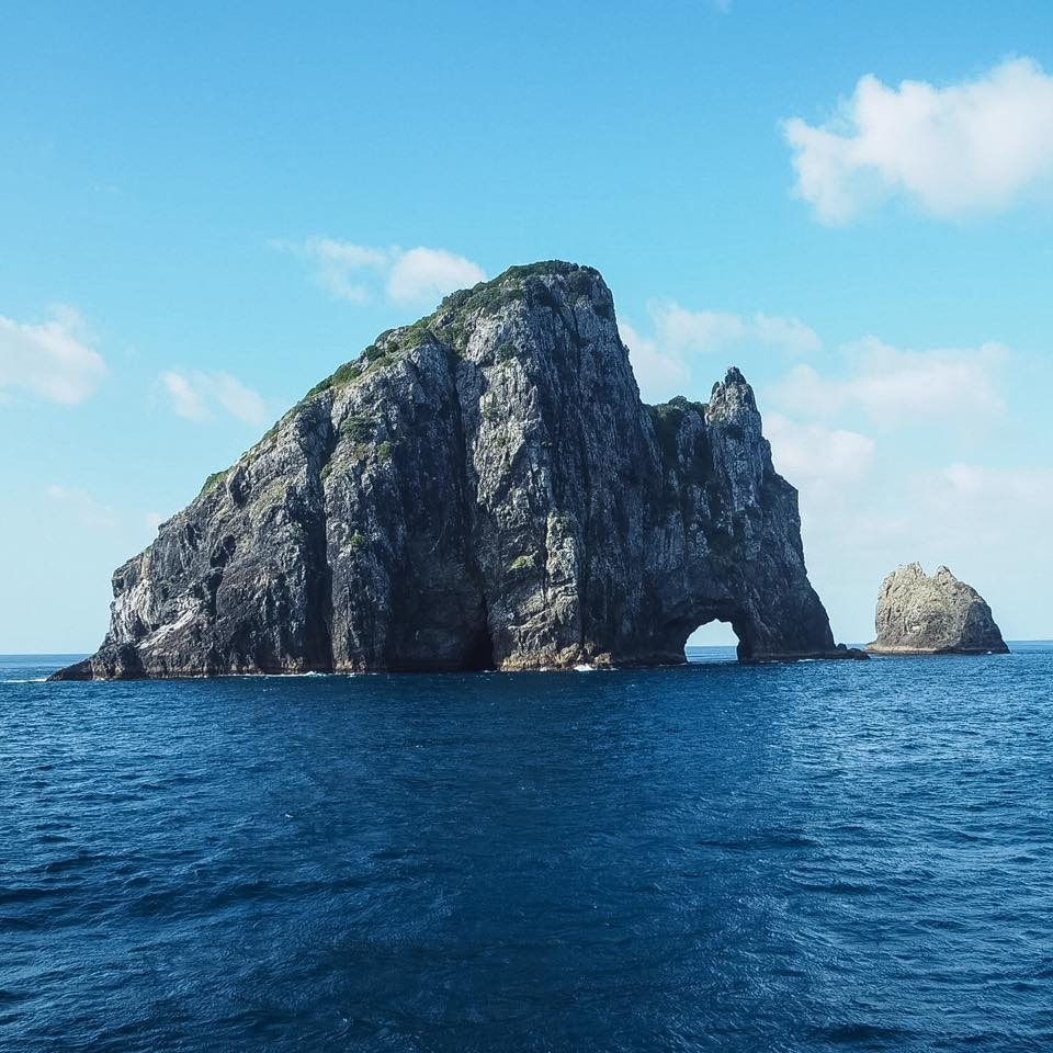 hole in the rock boat cruise in Bay of Islands, New Zealand