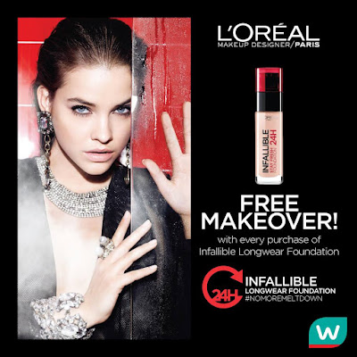 Watsons Malaysia Free Makeover Infallible 24H Liquid Foundation