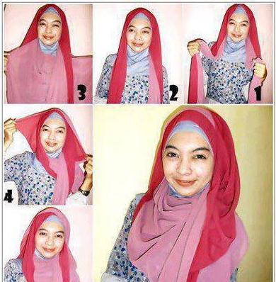 Tutorial Cara Memakai Hijab Segi Empat Dua Warna Toturial Hijab Modern