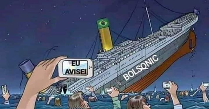 alsorsa.news: Militantes da Esquerda fazem meme com Navio de Bolsonaro afundando, mas esquecem que os que ficaram na água quando o Titanic afundou morreram afogados