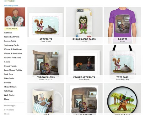 My shop on Society 6