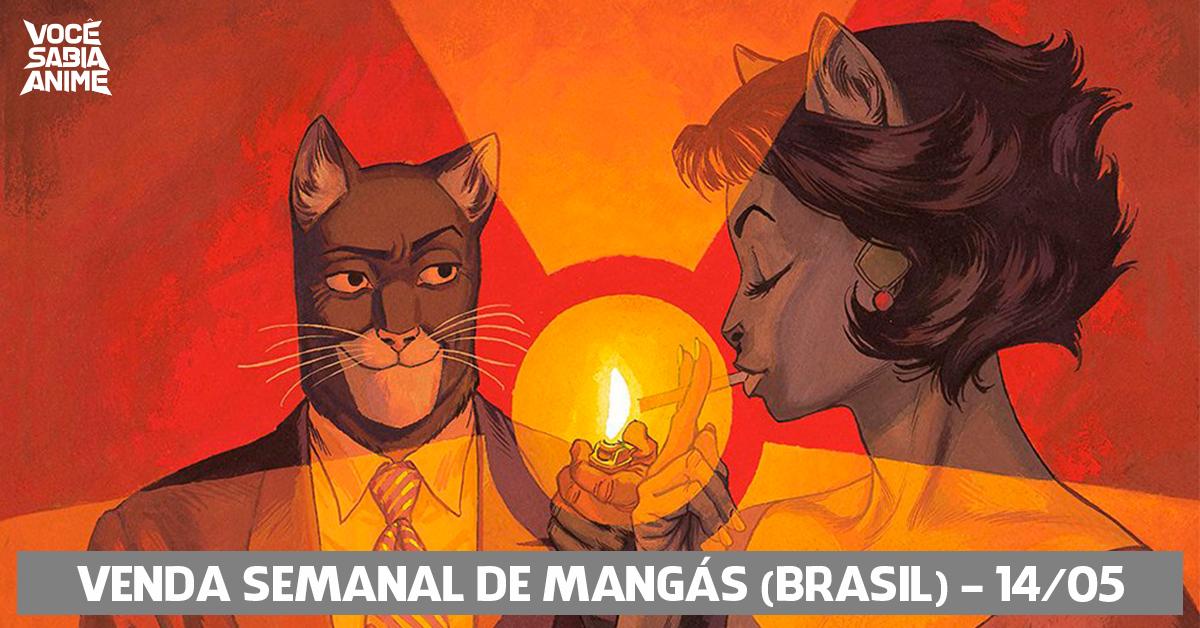 Ranking semanal de vendas de mangás no Brasil - 14-05