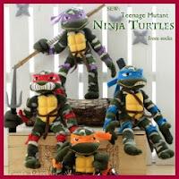 Tortugas Ninja con calcetines