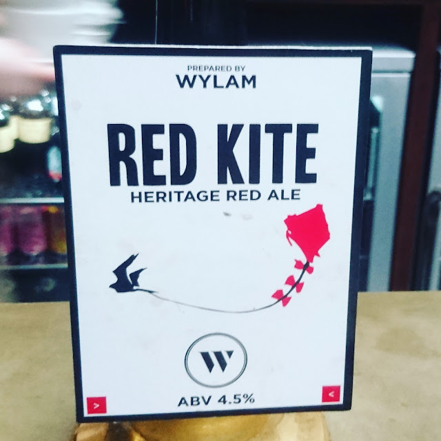 Northumberland Craft Beer Review: Red Kite from Wylam real ale pump clip