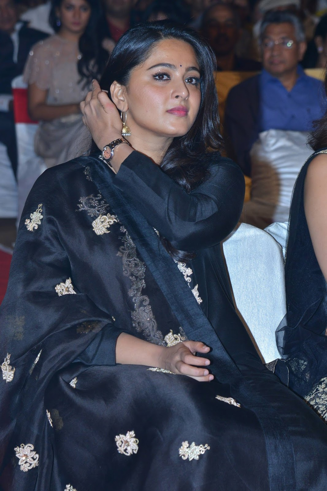 anushka shetty Stills at Om Namo Venkatesaya Audio Launch