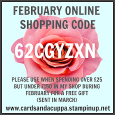 Hostess Code for your February Stampin' Up! Shopping