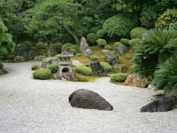 Japanese Garden in Kyoto, a very visible way in which humans 'Anthropocize' the biosphere. (Credit: University of Leicester) Click to Enlarge.