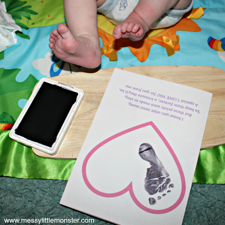 printable footprint poem keepsake