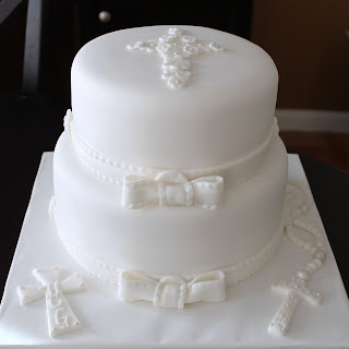 Creative Cakes By Lynn All White First Communion Cake