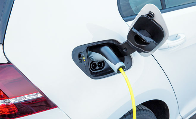 Volkswagen e-Golf charging sockets