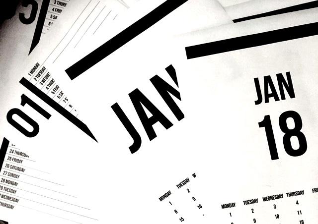 planner, 2018 calendar, 2018 monthly calendar, diary, etsy shop, handmade