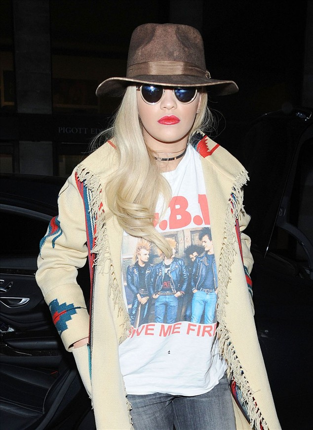 Celebrity Street Style: Rita Ora Out In London