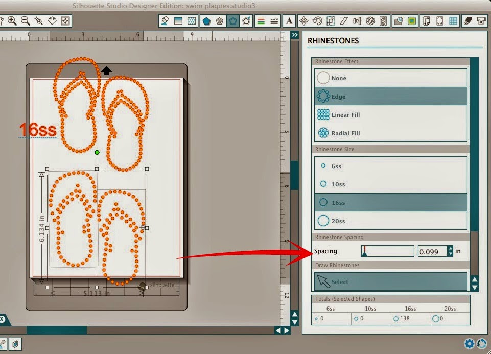 Silhouette Studio, custom, rhinestone designs, Silhouette tutorial, rhinestone, 16ss