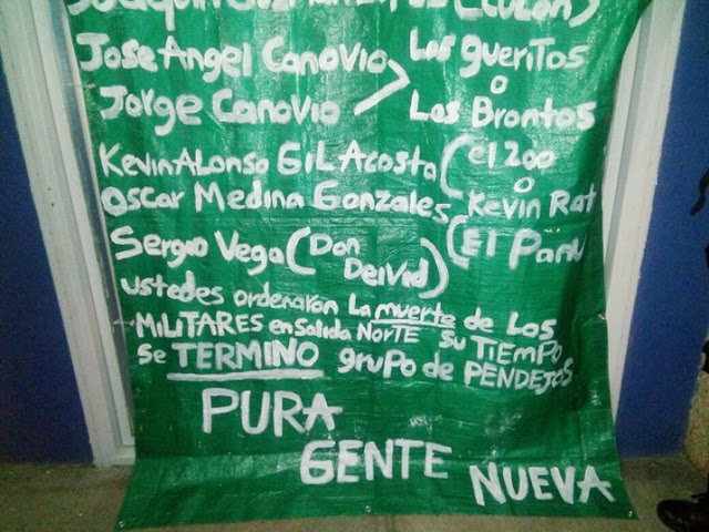 En narcomanta dejada en Culiacán amenazan a los hijos de El Chapo, Ivan Archivaldo Guzmán, José Alfredo Guzmán, Ovidio Guzmán y otros miembros del CDS