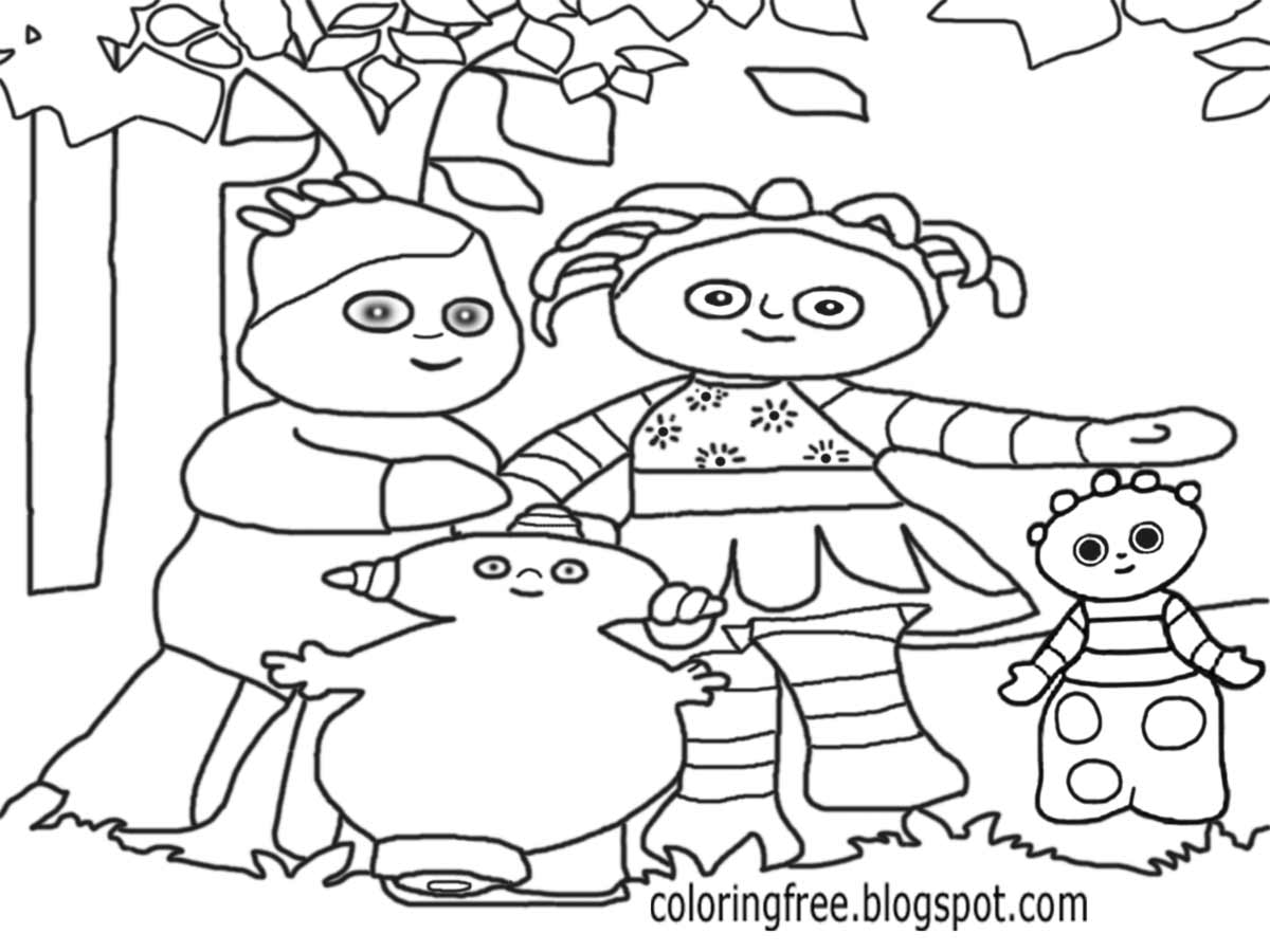 Igglepiggle And Makka Pakka Cool Easy Kids Coloring In The Night Garden Drawing Ideas For Beginners