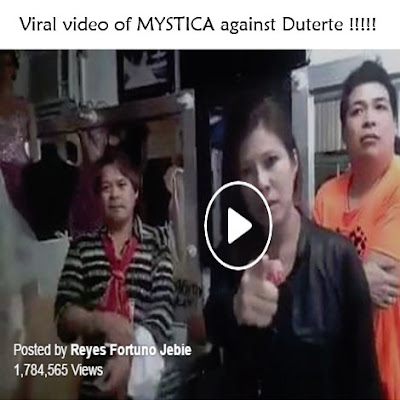 viral video of mystica against Duterte
