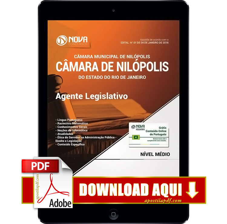Apostila Nilópolis RJ 2017 PDF Download Agente Legislativo
