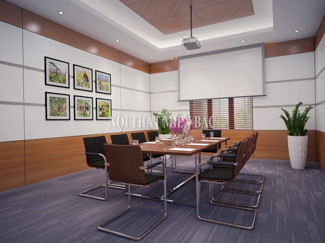 Thiết kế nội thất phòng họp giá rẻ theo phong cách hiện đại -H1