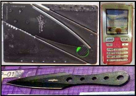 Credit Card Knife (MOB), Stun Phone (PVD), Throwing Knife (SMF)