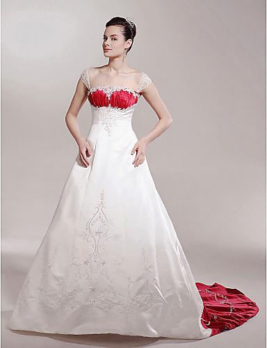vestidos sencillos de novia con color
